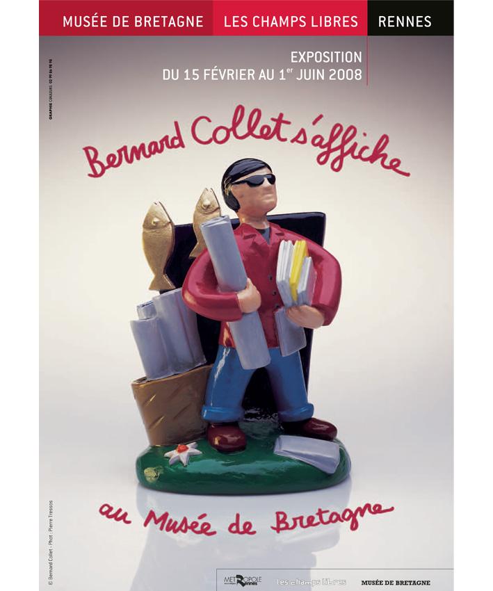 affiche exposition Bernard Collet