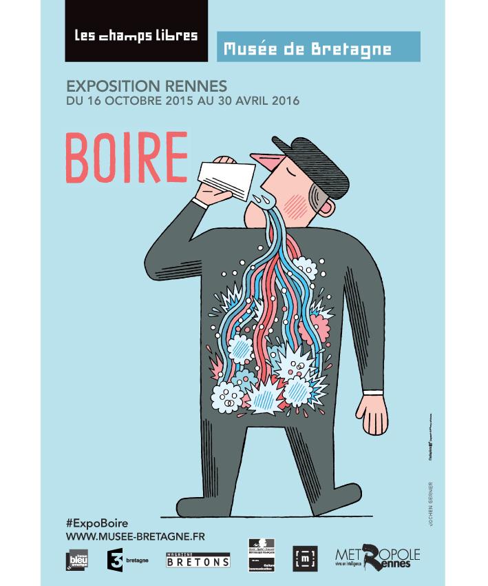 affiche exposition Boire