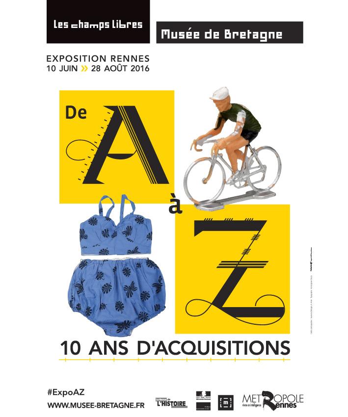 affiche exposition de A à Z