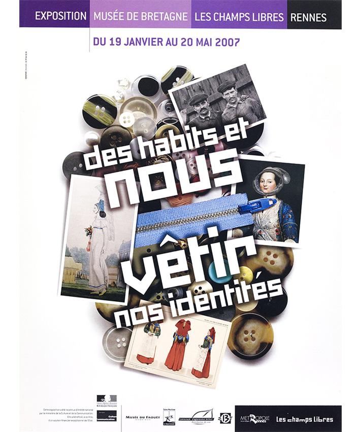 affiche exposition Des habits et nous