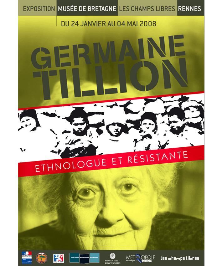 affiche exposition Germaine Tillon
