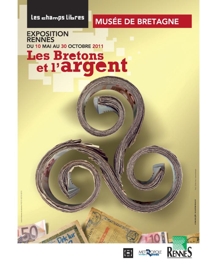 affiche exposition Les bretons et l'argent