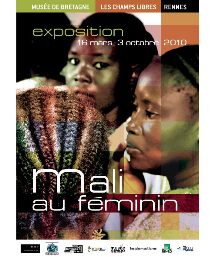 affiche exposition Mali au féminin