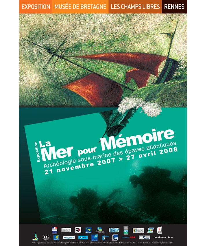 affiche exposition Mer pour mémoire