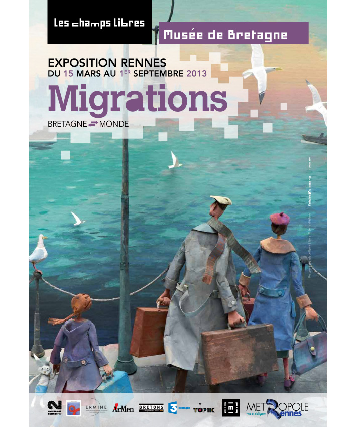 affiche exposition Migrations