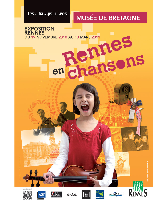 affiche exposition Rennes en chansons